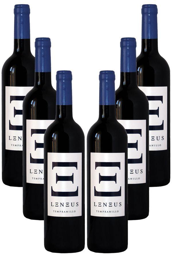 Caja de 5 botellas + 1 botella de regalo de Leneus Tempranillo